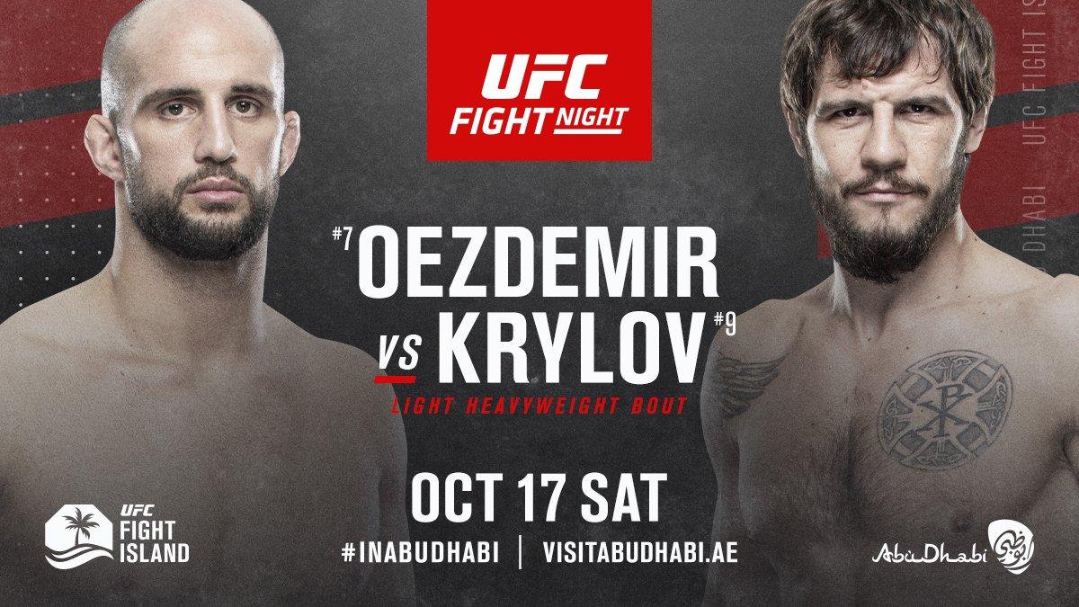 ¡CONFIRMADA!  Volkan Oezdemir y Nikita Krylov se enfrentarán en la pelea co estelar del #UFCFightIsland6 del 17 de octubre que tendrá como pelea central Ortega v Jung. https://t.co/QvJcaR8tO2