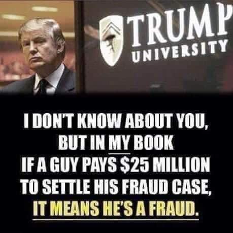 @realDonaldTrump #TrumpIsAFraud