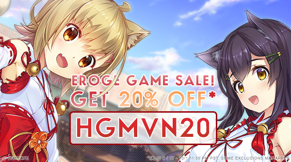 There's still time to get our games 20% off right now ^_^ Just enter in HGMVN20 at checkout on our site https://t.co/y9qTX8D0I8 https://t.co/aqFdUMH1Ki