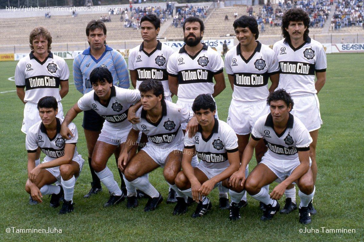 Olimpia antes del partido contra la U de Chile el 15 de febrero de 1987 en el Estadio Sausalito de Viña del Mar. #ClubOlimpia #Olimpia #VinadelMar #EstadioSausalito @elClubOlimpia
