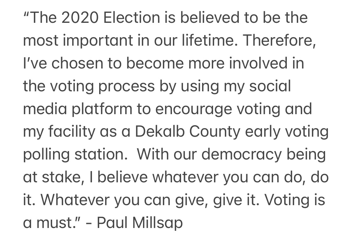 Denver Nuggets' Paul Millsap is turning his own training facility, CORE4 Atlanta, into a 2020 general election early voting center from Oct. 12-30. https://t.co/CJHGSyVzkj