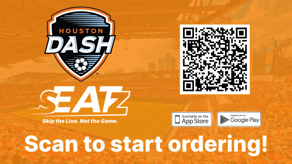 At this Saturday nights game, @HoustonDash fans will have access to contact-less concessions with the @myseatzapp. Cant wait to see yall again! ⚽️ Kickoff: 7:30pm 🎟 Get Tix: bit.ly/2ROZwy7 🏟 Safety: bit.ly/3c8Sb5K