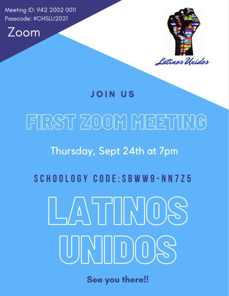 Come join our Latinos Unidos Zoom  Meeting tonight at 7pm! @ConantClubs @ConantCougars #LatinosUnidos https://t.co/taw3pld32u