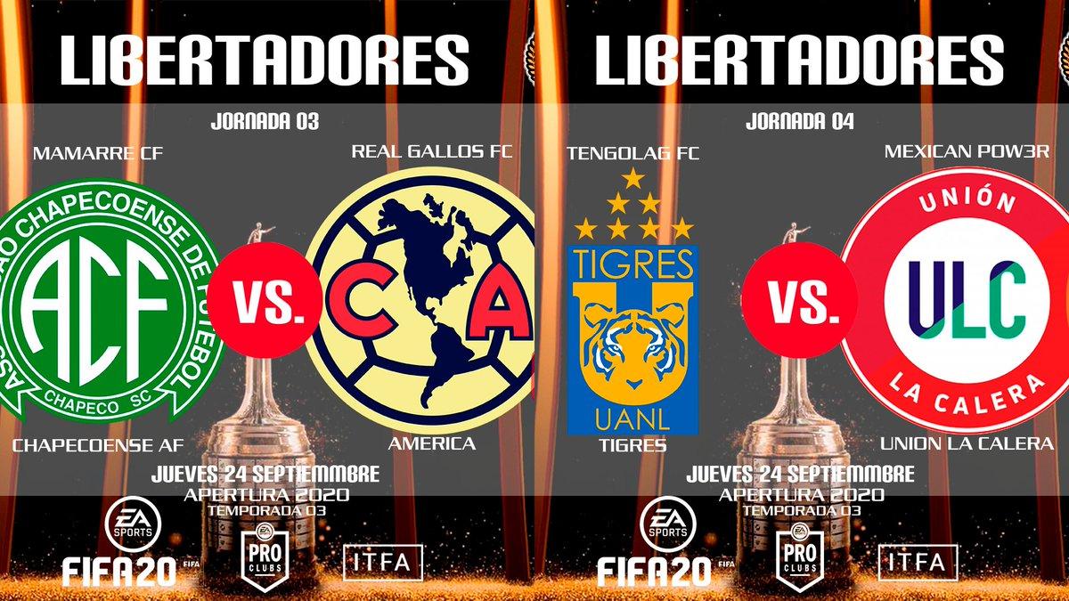 LIGAS PREMIER ⭐️🎮🦁🏆⚽️⭐️ LIBERTADORES 🏆🇲🇽🇺🇸🇧🇷🇦🇷🇨🇱🇨🇴  J03 - MAMARRE CF Vs REAL GALLOS FC J04 - TENGOLAG Vs MEXICAN POW3R  https://t.co/klQ0BmZDGA  #ITFA #LIGASPREMIER #COPAPREMIERLIBERTADORES #CLUBESPRO #XBOXONE #CLAUSURA2020 #TEMPORADA03 https://t.co/uuk4AtF7on
