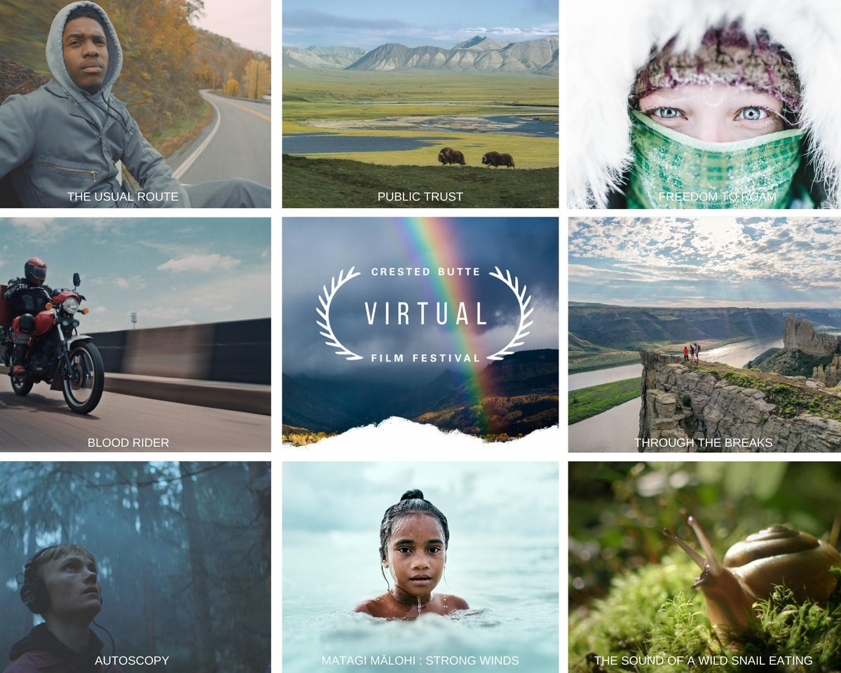 """Starting tomorrow, September 25th, The Crested Butte Film Festival will be available online, featuring 100 inspiring films from 100 amazing filmmakers. Be sure to check out our film """"United States of Joe's"""": https://t.co/HAh503sJGa https://t.co/5YPyhTb7qM"""