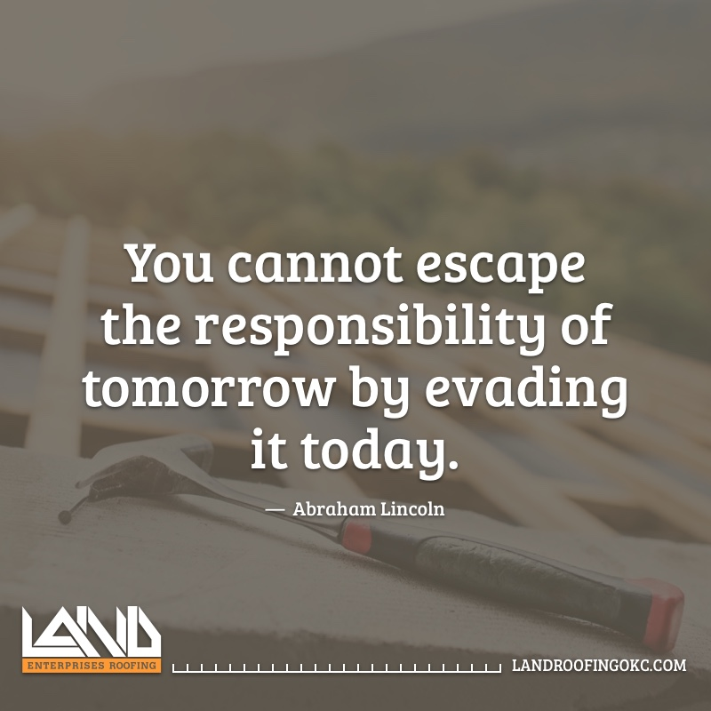Don't put off until tomorrow what you know you can fix today. #roofing #roofer #okc #quotes https://t.co/wVEwG0rQbM