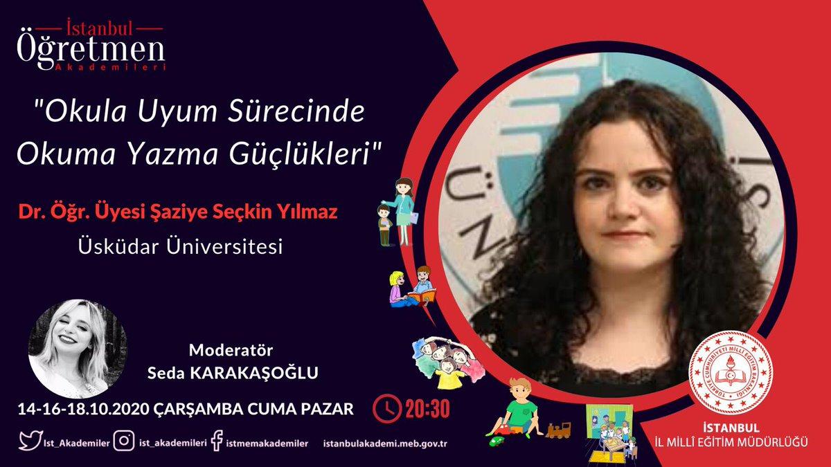 Özel Eğitim Akademisi ve Bir Harf Bin İstanbul Projesi iş birliğiyle Dr. Öğr. Üyesi Şaziye Seçkin Yılmaz tarafından verilecek olan Okula Uyum Sürecinde Okuma Yazma Güçlükleri eğitim programına başvuru için tıklayınız.⤵️ 🔗https://t.co/Ugw7AJVfQx  @memleventyazici @istanbulilmem https://t.co/sj731Ju9tc