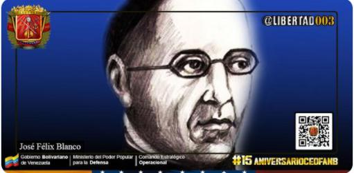 #24Sep || Se cumplen 238 años del natalicio del Capellan José Félix Blanco, quien se destacó como historiador y edecán del Libertador. Participó con gallardía y sentimiento patrio en la lucha por la Independencia de #Venezuela.  #15AniversarioCEOFANB https://t.co/rTfMUEYvza