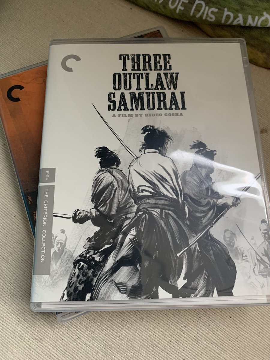 @OdinsMovieBlog I wanna talk movies🎥! I miss so much. I've picked these two up, both pretty inexpensive. 3 Outlaw Samurai I never heard of but it was $21 & a Criterion. Odin, do you like samurai movies? I loooooooove them. My first tattoo is Japanese kanji. IFC used to have Samurai Saturday AM https://t.co/UixgOfaVuo