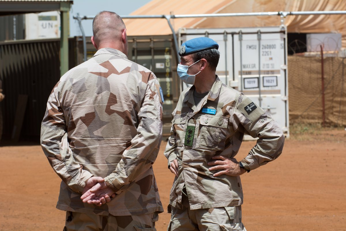 Visiting the #Swedish contingent on September 21st. On the agenda were the operational priorities given the current security context and the contribution of the contingent to the missions of the #MINUSMA Force throughout the area of Operations. #ServingForPeace #A4P https://t.co/X2kK0jjY41