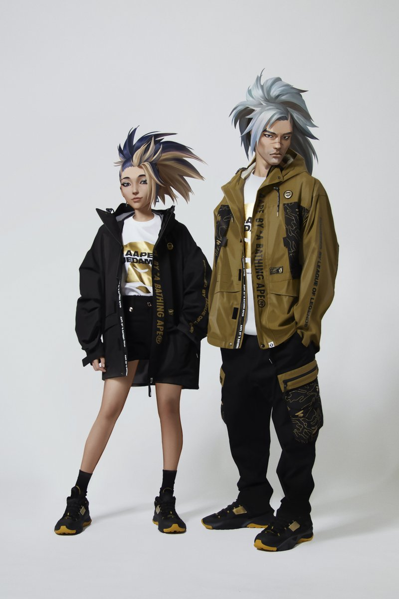 honored to model the new @AAPE_OFFICIAL collection with Yasuo 🗡️ https://t.co/AUMvyR99cC