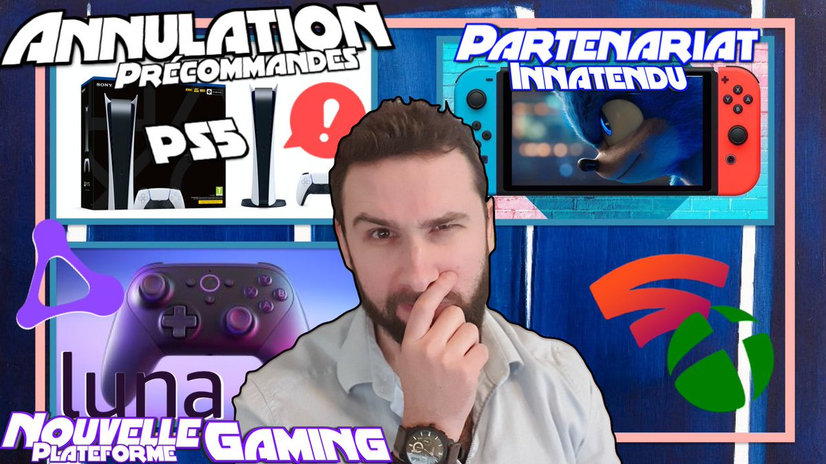 Attention, Annulations des commandes #Playstation5 chez certains revendeurs étrangers QUID de chez nous ?😱⚠️#Luna, Le Streaming Gaming #Amazon contre Stadia & Xcloud🔥 Un partenariat inattendu pour #Sonic & la #NintendoSwitch ! NOUVELLE VIDEO DISPONIBLE➡️ https://t.co/jnawB9xNc9 https://t.co/t8BqK0Zig0