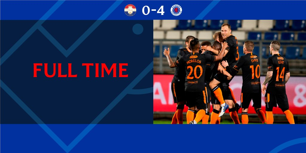 FULL-TIME: Willem II 0-4 Rangers  👏 A great performance from #RangersFC. https://t.co/5OepFEXMYF