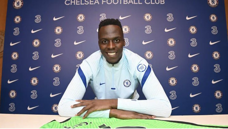 """Edouard Mendy:   """"I've been a Chelsea supporter since I was little. I adore this club. When I was 12 I had the chance with a past club I played for to go to Brighton, and we watched a match.""""  You love to see it 💙  #CFC 