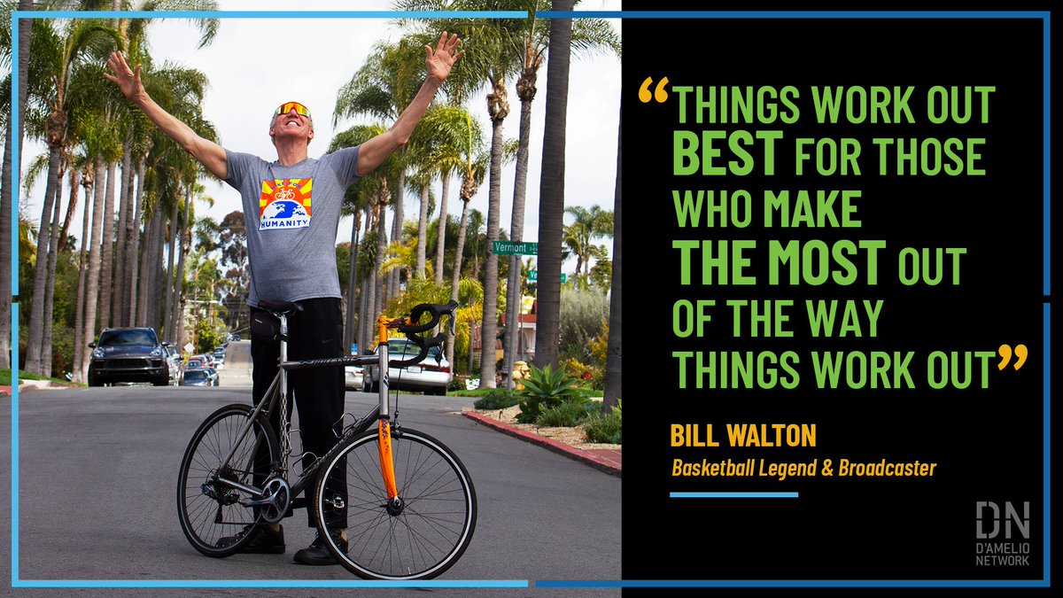 Feeling overwhelmed? @BillWalton has some great advice; words that have carried him through his successful basketball career & his nightmarish challenges off the court as well. Watch Bill talk about life's ultimate lessons - pride, loyalty and gratitude: https://t.co/wHg2DkR9MN https://t.co/w6W6yOlzvQ