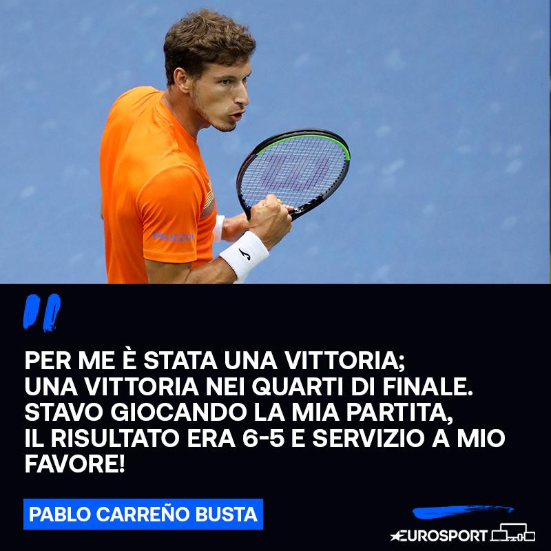 Carreno Busta in esclusiva a Eurosport 🗣  Lo spagnolo torna sulla squalifica di #Djokovic, è una sua vittoria 🔙🇺🇸  💬 https://t.co/QAs81ihtOY  #EurosportTENNIS | #CarrenoBusta | #USOpen https://t.co/6OoB58A4qV