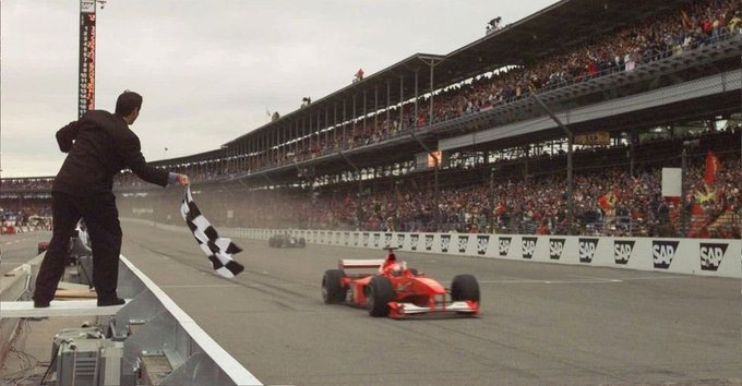 On this day in 2000, Michael Schumacher scored his 42nd career @F1 win at Indianapolis Grand Prix Circuit #Formula1 #F1 #UnitedStatesGP #USGP #TeamMichael #KeepFightingMichael https://t.co/MvI6DxvJGT
