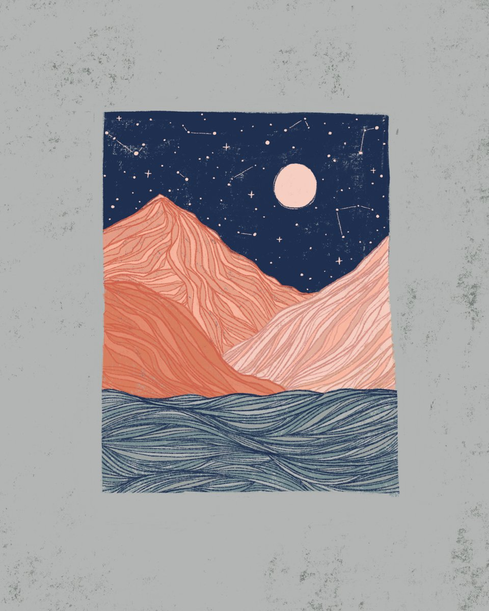 ▲ Moonrise in the Canyon ▲ . . . #landscapepainting #moonrise #moonphases #ladyillustrators #procreate #illustration_best #linework #illustrationnow #bestofsociety6 #society6 https://t.co/2WJHQ40p1c