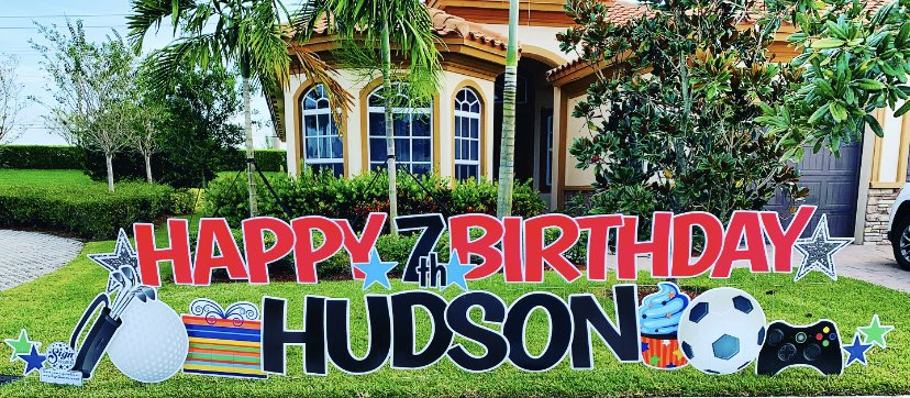 Happy 7th Birthday Hudson! Click the link below to book your sign. https://t.co/HcsOVE8YTh #signdreamersofnorthbrowardandbocaraton #happybirthday #birthday #birthdayboy #cityofcoralsprings #cityofdeerfieldbeach #cityofcoconutcreek #miralagoparkland #cityofparkland #parkland https://t.co/zJ1L9OirBw
