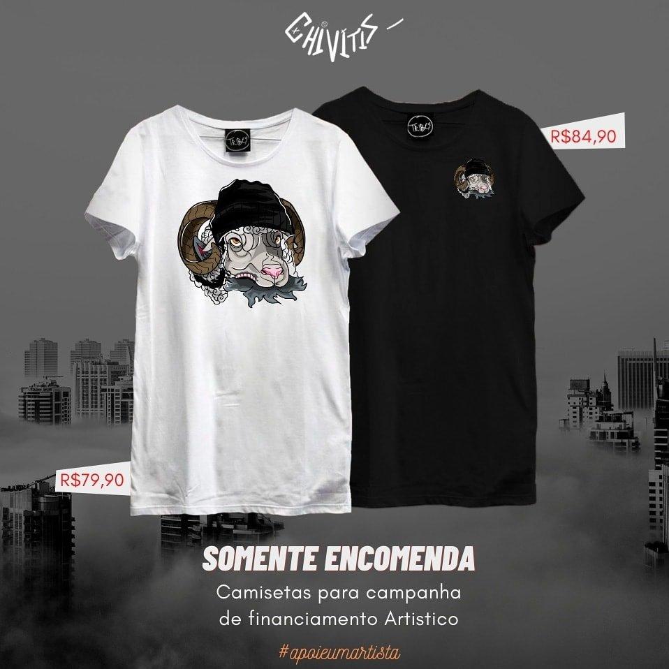 A Cauza é NOBRE ♥   Voa @rapchivitis!  Estou lançando estas camisetas para ajudar a pagar a produção do meu Disco.. APENAS POR ENCOMENDAS - Chama no Direct ou zap (19) 99818-5597 #ajudeumartista #cultura #comunidade #rioclaro #ajapi #movimentotribes #luta #Rep #familialagoazul https://t.co/VfSxqdXvhJ