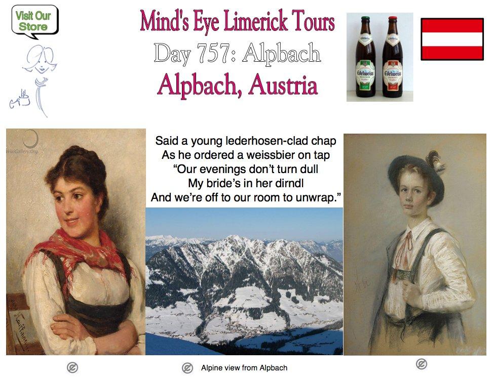 #Limerick #entertainment #humor #fun #Alpbach #Tyrol #Austria #dirndl #lederhosen #weissbier https://t.co/XdPi0jTx29 https://t.co/u1rSJpfJB8 https://t.co/rRBC4Xa5ff