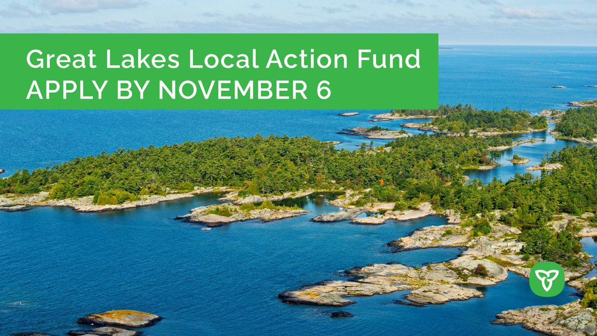 GREAT news! We're accepting applications for the new Great Lakes Local Action Fund to support projects that protect and restore coastal, shoreline and nearshore areas of the Great Lakes. Learn more and apply now: https://t.co/yr7SmoV1uK https://t.co/HmHvJgU0VX