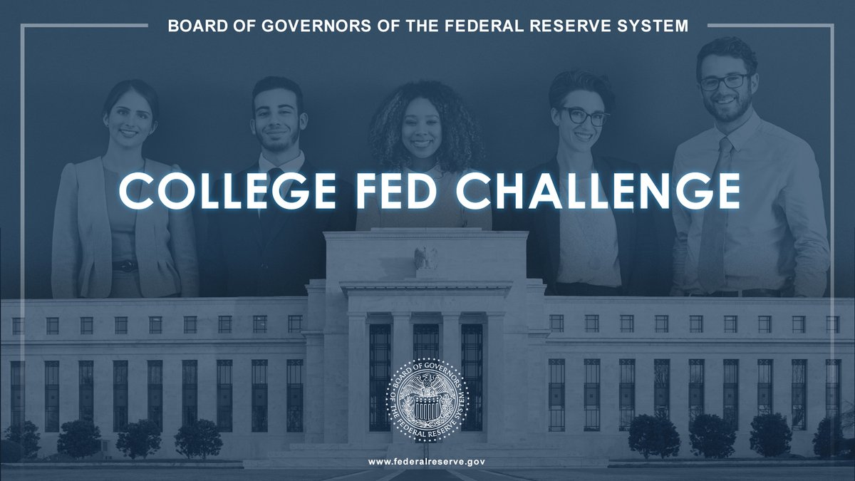 Less than one week left to register! Undergraduate students from across the nation can compete in the 2020 virtual #FedChallenge   Register by September 30, 2020   Full rules: https://t.co/cDoAMRUYxl   #EconTwitter #Economics https://t.co/v9eZ7wrZ0R