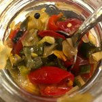 Image for the Tweet beginning: Onion pepper relish I put