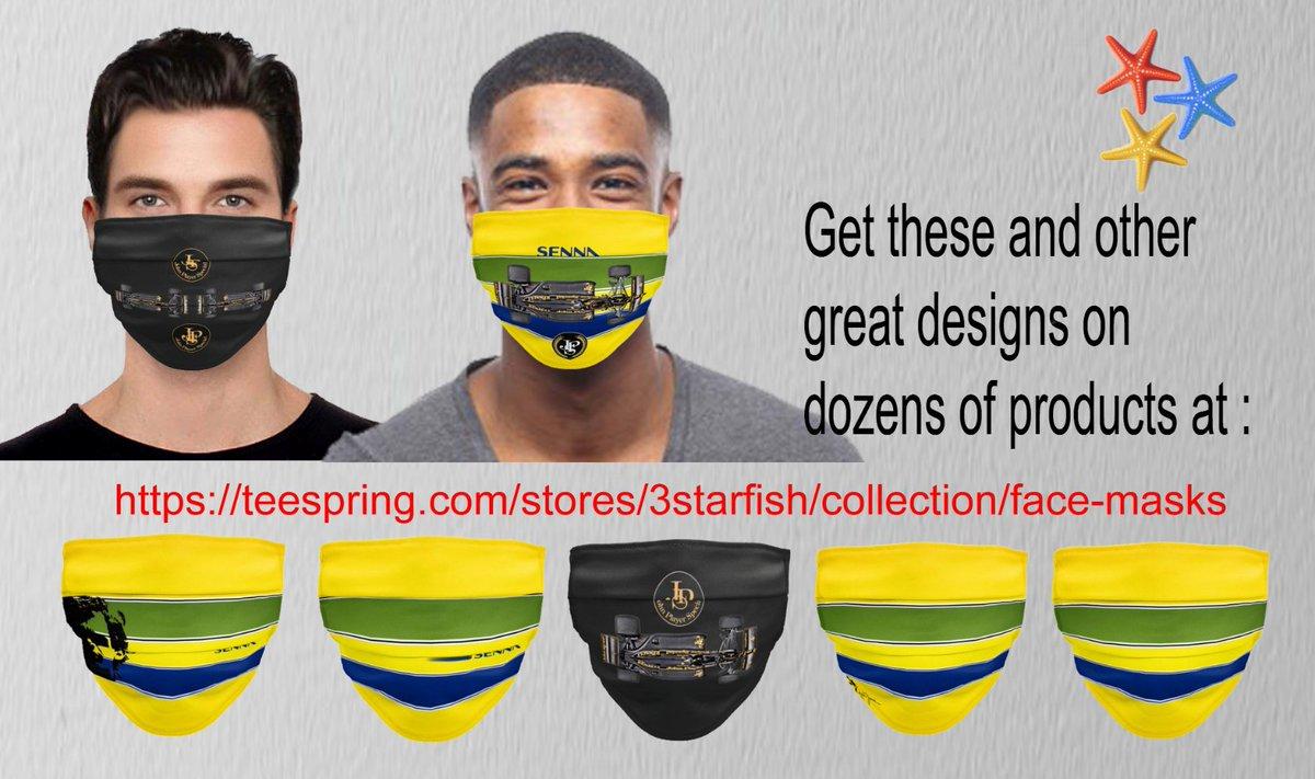 Check out our F1 Senna inspired designs, on masks, t-shirts, mugs etc.  https://t.co/beUuapYYC4 #racing #f1 #formula1 #gtracing #masks4all #Masks #senna  #ferrari #tvtime #love #win #PolePosition #AllLivesMatter #GrandPrix #Ayrton #RussianGP #TrumpCoupPlot #COVID19 #EuropaLeague https://t.co/OmfjF9xl1Y
