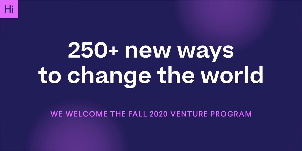 We're thrilled to welcome over 250 student ventures into our Fall Venture Program! We're continually impressed by how our teams embrace tough challenges and forge meaningful connections.   Curious about the ventures in this cohort? Find out more here: https://t.co/105eJpaUCK https://t.co/R7LIbb0cr6