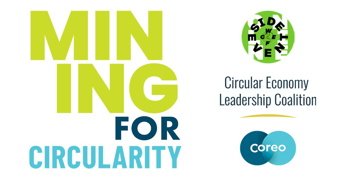 As part of #WCEFonline,  Coreo &  @CELeadershipCA host 'Introducing #Mining and the #CircularEconomy'.    Starting 7 Oct,  1500-1700 BST / 1200 AUS, for the first of a three part series -  Australian audiences can register to receive the recording 👉 https://t.co/DDFaDbITA3 https://t.co/TTOk1KnSLI