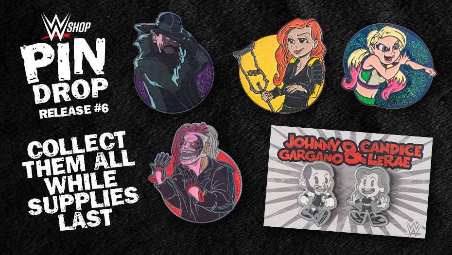 The latest #WWEPinDrop, featuring some of you favorite #WWE Superstars like @undertaker, #TheFiend #BrayWyatt and many others! Every 2 weeks #WWEShop will release a new batch of Limited Edition #WWEPins, supplies are very limited!  https://t.co/nJGp5bVD1r https://t.co/OrHWFh8VuQ