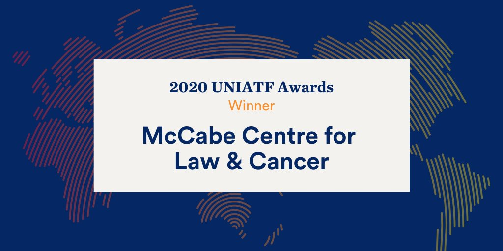 What an honour to be recognised with a #UNIATF award from @un_ncd for our work using #law to #actonNCDs   Congrats to our fellow winners and thanks to our many amazing partners. We are more committed than ever to beating #cancer and other #NCDs together  ➡️https://t.co/icy60d84gf https://t.co/zBdALW8GBX