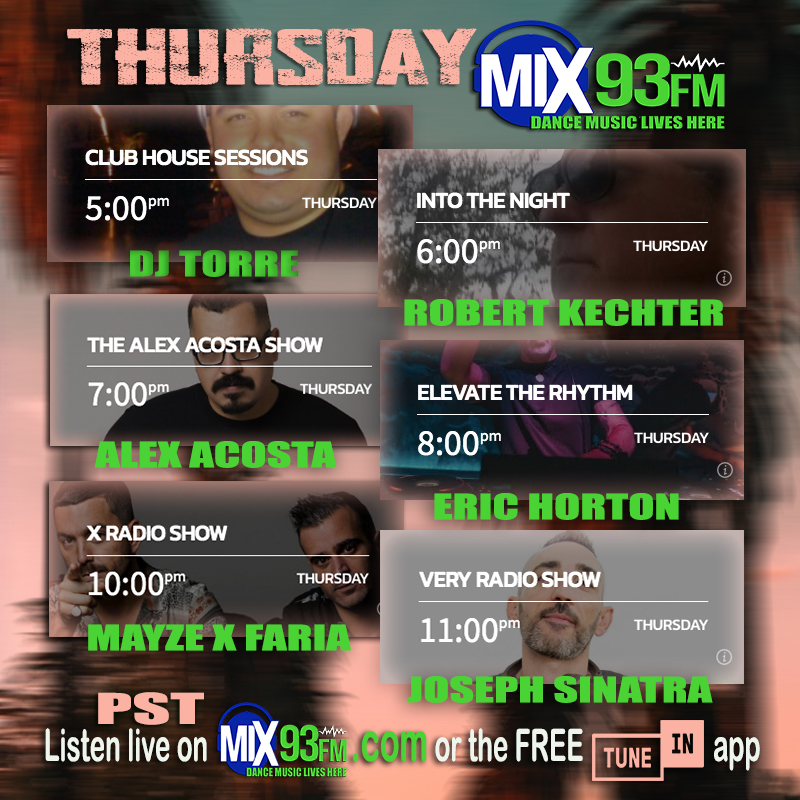 https://t.co/mjbx52Ll0b for #commercialfree #mixes #DanceMusicLivesHere #LosAngeles based #BdsRadio #DanceStation or look for #Mix93fm on free TuneIn app #HouseMusic #Tribal #TechHouse #Electro #Techno #Progressive #BigRoom #MusicIsTheAnswer https://t.co/IRzGt29LiM