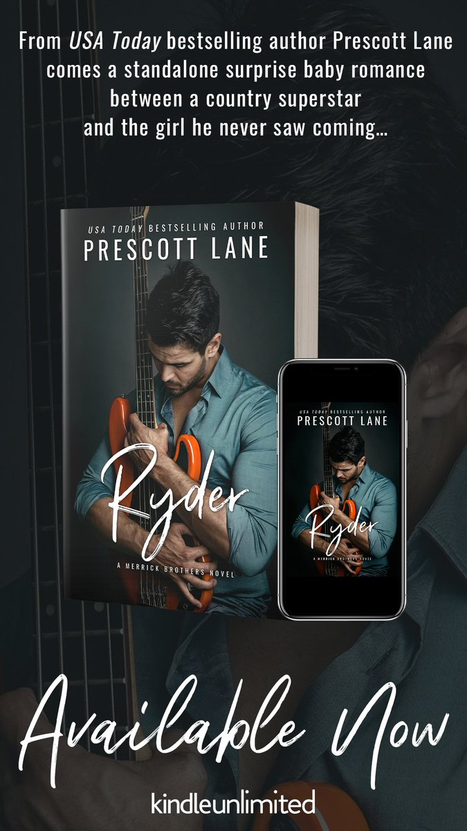 Ryder by @PrescottLane1 is now LIVE!   Download today or read for FREE with Kindle Unlimited!  US: https://t.co/fIVM4PdvOF  WW: https://t.co/rEvktbtkFz  #NewRelease #MustRead @greyspromo  #ContemporaryRomance #Accidentalpregnancy #Alphahero #OneNightStand #RockstarRomance https://t.co/irfFXuTnJJ