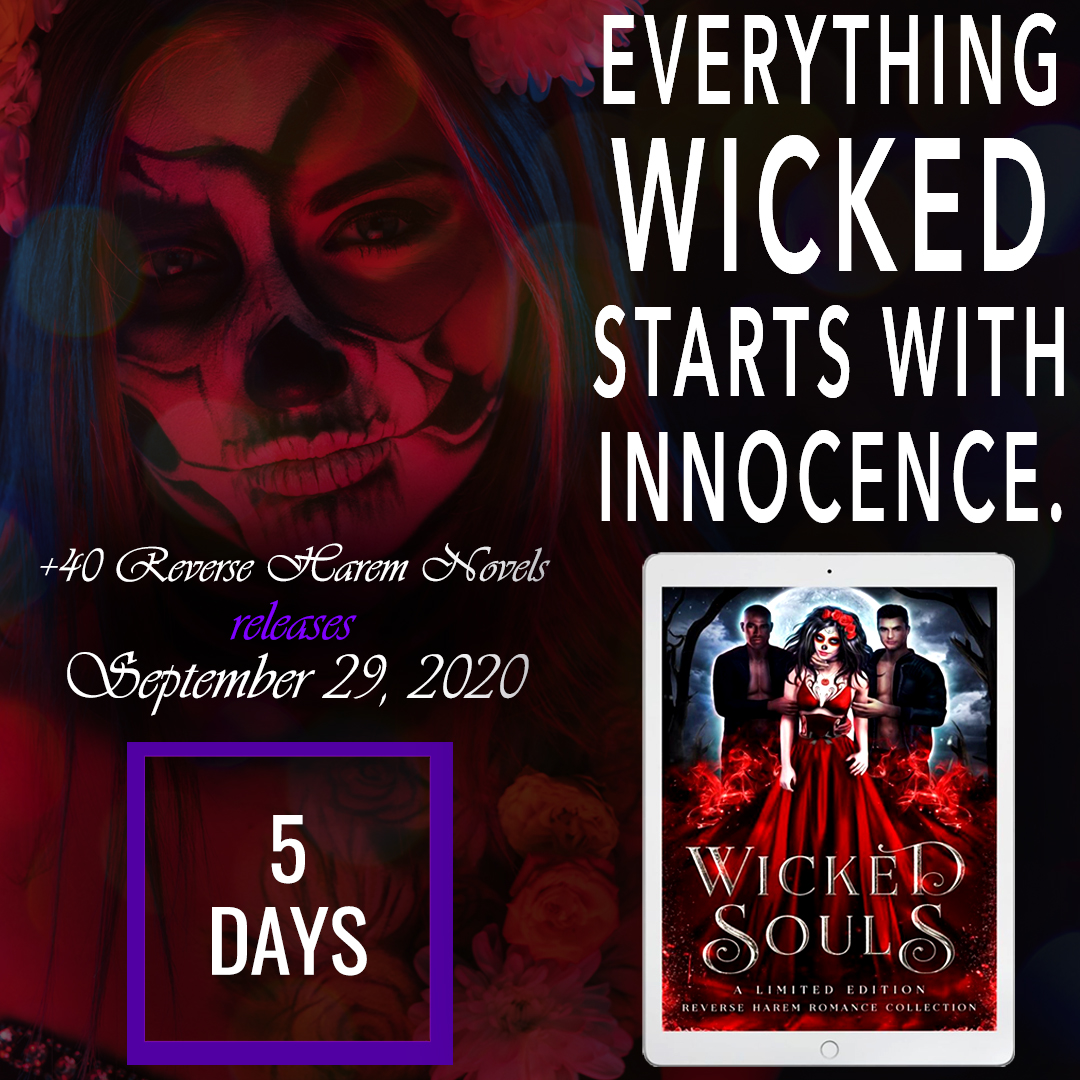 5 DAYS! 😍 Why choose when you can have it all?  Wicked Souls 40+ reverse harem romances to tempt your dark side. 🔥 $0.99 on ALL Platforms 🔥 Books2Read: https://t.co/zh1v6QzRi2  #newrelease #anthology #wickedsouls #paranormalromance #pnr #fiction #readers #mustread #whattoread https://t.co/uX2OvZKwyY