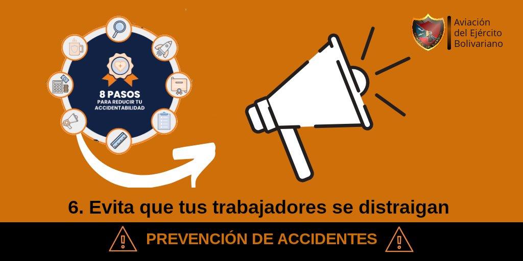 🚦 #Prevención    Evita que tus trabajadores se distraigan. Intenta que tus empleados tomen conciencia de lo que están haciendo en cada momento para evitar distracciones y posibles lesiones. #MaduroVictoriosoEnLaONU #FANB #EjercitoBolivarianoBicentenario #ArmaMaestra #Venezuela https://t.co/FXCJ7c5OQD