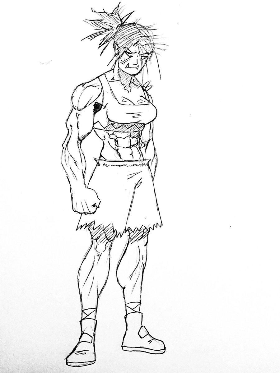 A very buff Orc girl #pencil #sketch #drawing #sketchbook #fantasyart #originalcharacter #originalart #orc #musclegoddess #artistontwittter #art https://t.co/lc5ldcAoQ9