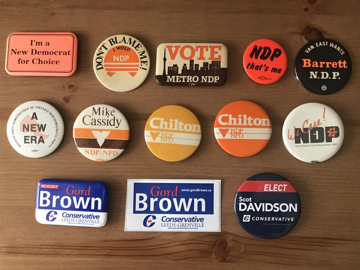 NDP & Conservative Political Buttons/Sticker from $1-4 for sale.   Don't miss out.   Find them at https://t.co/sjyIJJLAW6 #history #cdnpoli #onpoli #skpoli #cpc #ndp #ondp #skndp https://t.co/bYCNhl8agb