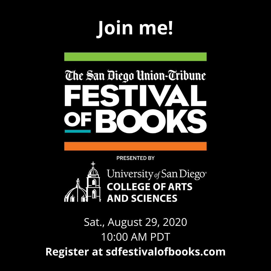 "For all the #booklovers out there - the San Diego Festival of Books is online this year! Check out my panel (titled ""Strange and Wonderful New Fiction"") with @jacjemc and @juliadixonevans https://t.co/LBFLfcXm6n #writingcommunity #grababook https://t.co/BIFRZvEyuT"