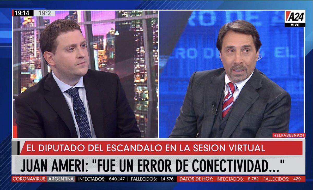 CABLE | 📊📈 Con pico de 3,9 #ElPaseEnA24 entre @edufeiok y @JonatanViale lidera las señales de noticias con el escándalo en la Cámara de Diputados https://t.co/j5iyANYG0u