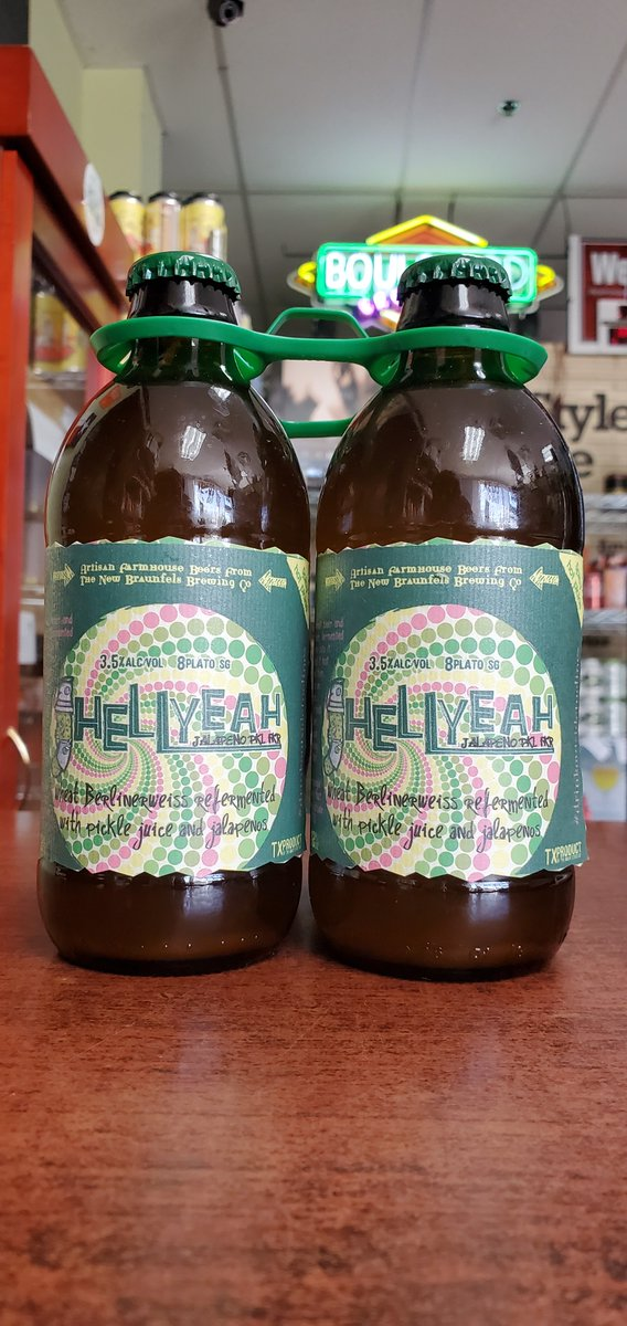 NEW @nbbrew Hell Yeah Jalapeno Pickle Beer 3.5%  #mckinneytx #craftbeer #shoplocal #drinklocal #allentx #friscotx #texas #texascraftbeer #melissatx #txbeer https://t.co/5OB74lP3kH