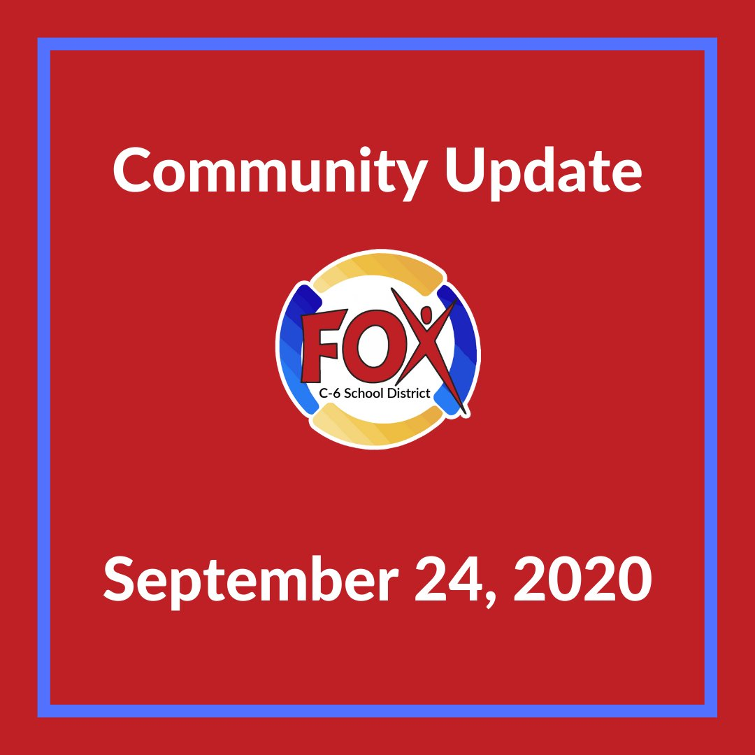 Read the latest community update from Fox C-6 Superintendent, @FoxC6Super bit.ly/3cuEiit #FoxC6Strong
