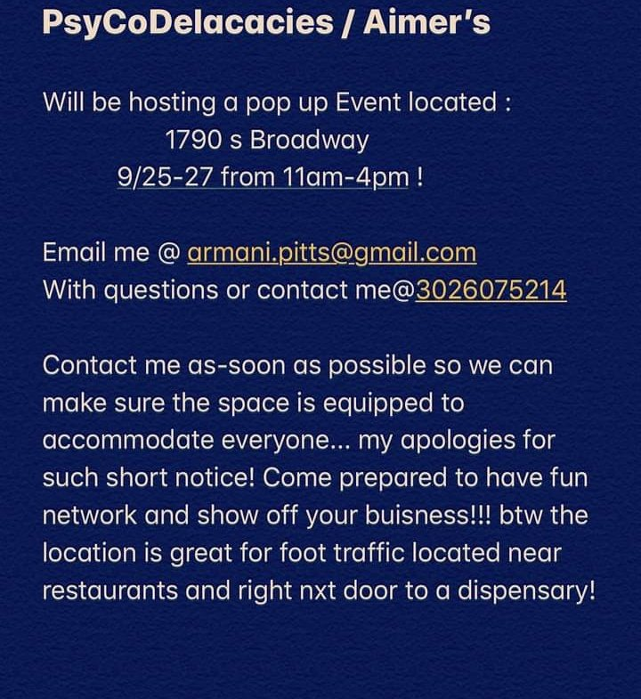Some young brothers have put this event out and are needing some help. Black people, black businesses, and people ready to spend money are needed.  #Colorado  #BlackBusiness  #DenverProtest https://t.co/aJeBxnBKhT