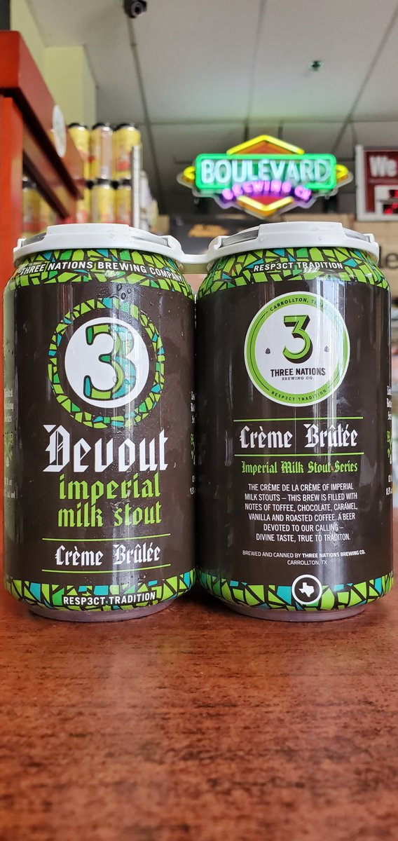 NEW @3nationsbrewing Devout Creme Brulee Imperial Milk Stout 8.3%  #mckinneytx #craftbeer #shoplocal #drinklocal #allentx #friscotx #texas #texascraftbeer #melissatx #txbeer https://t.co/Y3wkyjIzoT