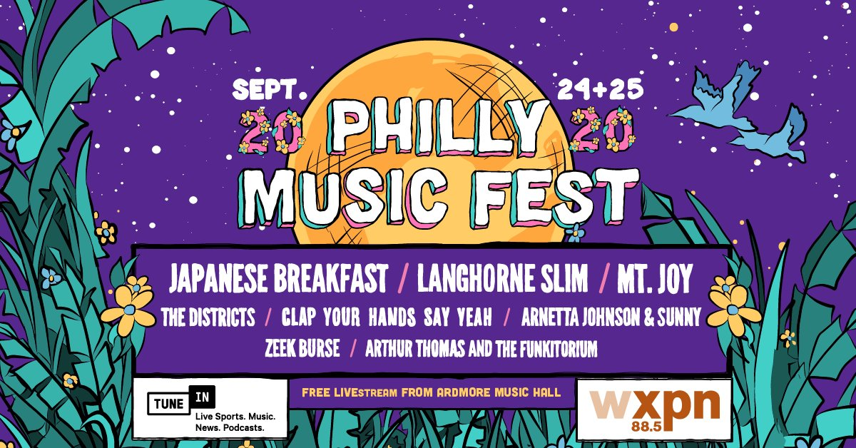 Do you miss live music? 🎸🎶 Turn on @wxpnfm tonight & tomorrow to hear @Jbrekkie, @LanghorneSlim, @MtJoyBand and more LIVE (from an actual music venue!) at this year's crowd-free @PHLMusicFest, a nonprofit event benefitting musicians and music education: https://t.co/qeQIhRZpz0 https://t.co/WzSZ8D03pq