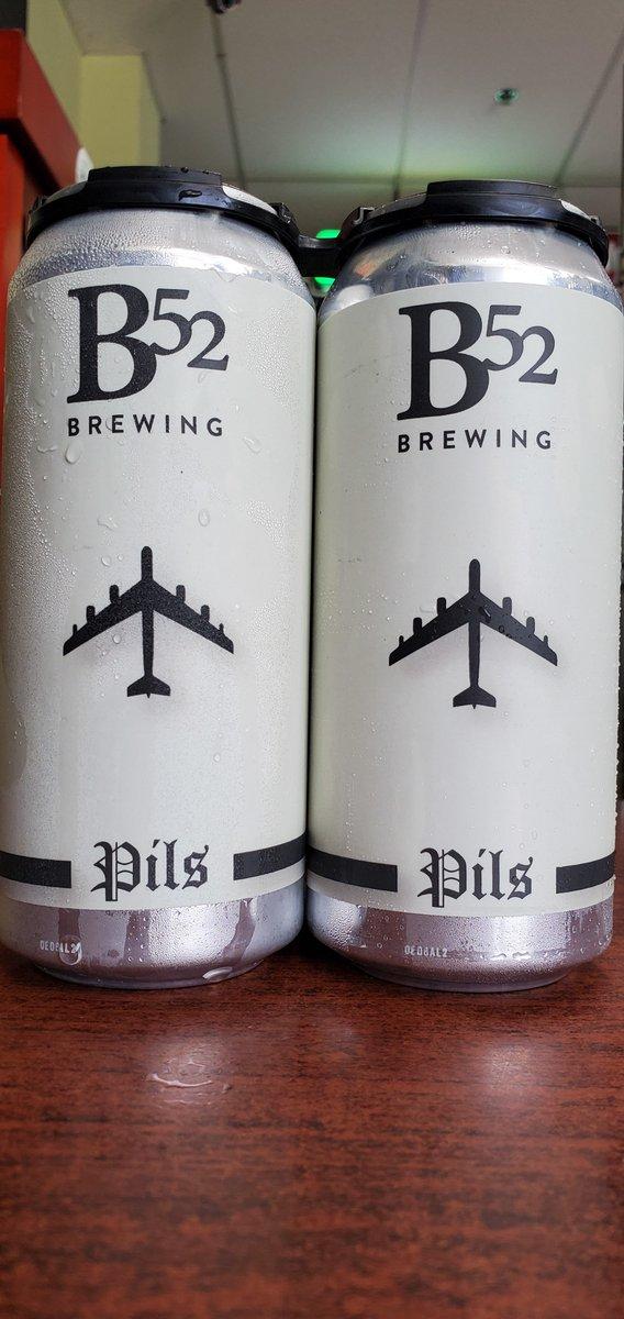 NEW @b52brewing Pils 5.1%  #mckinneytx #craftbeer #shoplocal #drinklocal #allentx #friscotx #texas #texascraftbeer #melissatx #txbeer https://t.co/zXpZCs7kGs