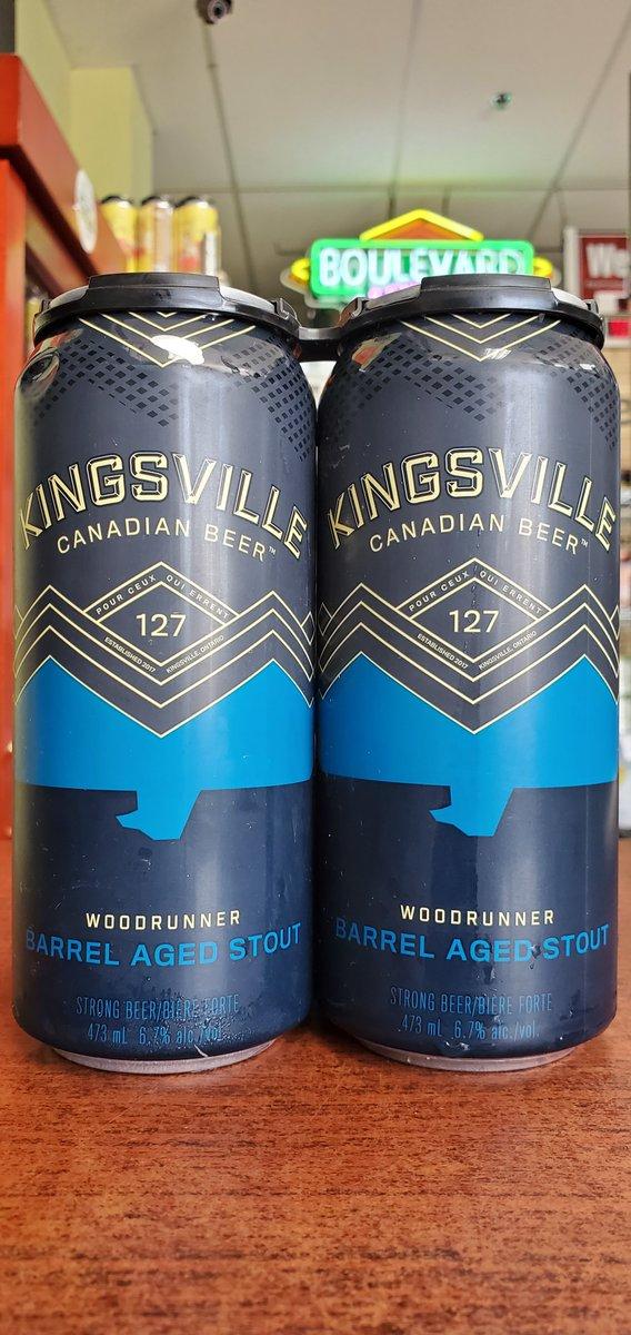 NEW @kingsvillebrewery Woodrunner Barrel Aged Stout 6.7%  #mckinneytx #craftbeer #shoplocal #drinklocal #allentx #friscotx #texas #texascraftbeer #melissatx #txbeer https://t.co/CBhFs7EvJp