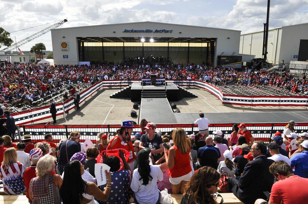 #HappeningNow on #OANN: President Trump hosts a Great American Comeback rally in Jacksonville, Fla. Tune in now to watch it live! https://t.co/0oSplflYCU
