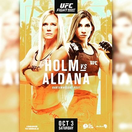 Holly Holms vs Irene Aldana set for October 3rd UFC Fight Night   #ufcfightnight #hollyholms #irenealdana #fightisland #abudhabi #mma #ufc #boxing #bjj #muaythai #kickboxing #jiujitsu #fitness #martialarts #wrestling #fight #grappling #karate #fighter #training #judo #mmafighter https://t.co/p9SGV625Wc